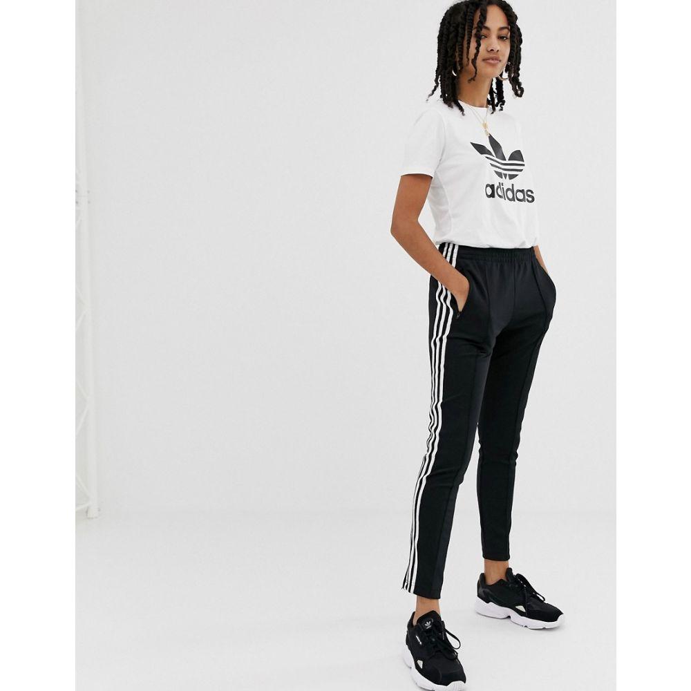 アディダス adidas Originals レディース ボトムス・パンツ スウェット・ジャージ【adicolor three stripe cigarette pant in black】Black