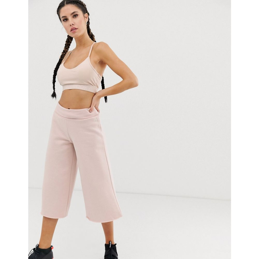 リーボック Reebok レディース ボトムス・パンツ ジョガーパンツ【wide leg joggers in pink】Buff