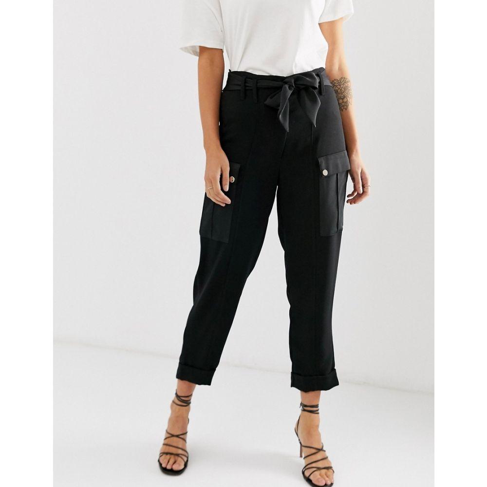 リバーアイランド River Island レディース ボトムス・パンツ【utility peg trousers in black】Black