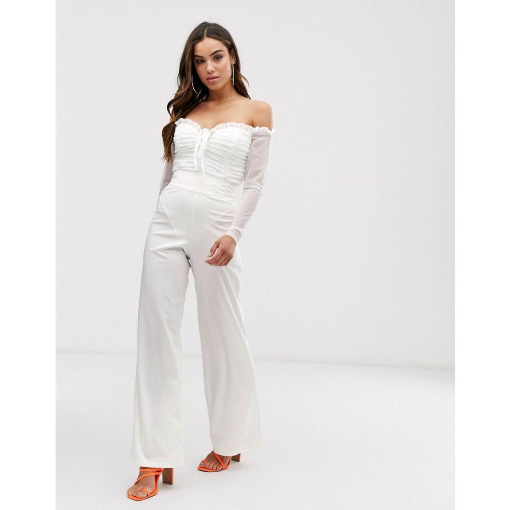 クラブエル ロンドン Club L London レディース ボトムス・パンツ【high waist tailored trouser in white】White