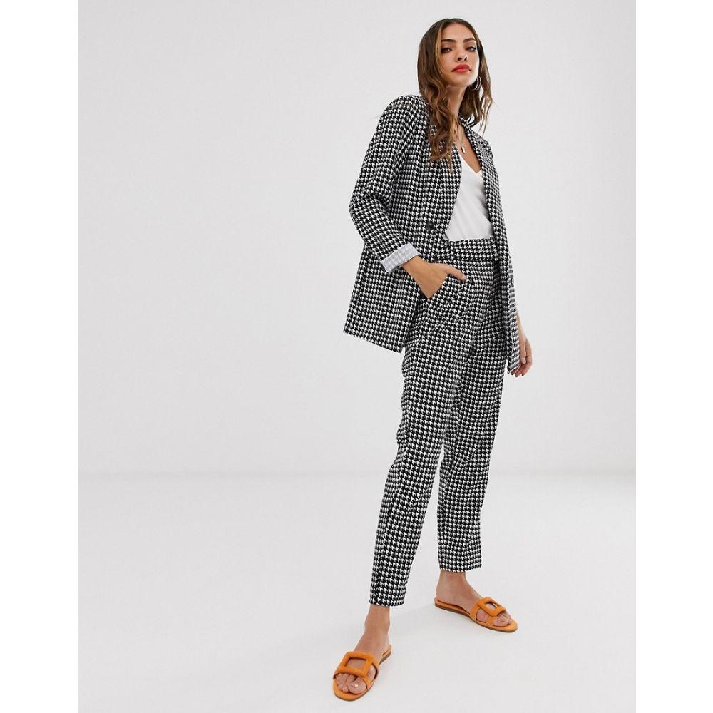 ヴィラ Vila レディース ボトムス・パンツ【houndstooth tailored trousers with belt】Multi