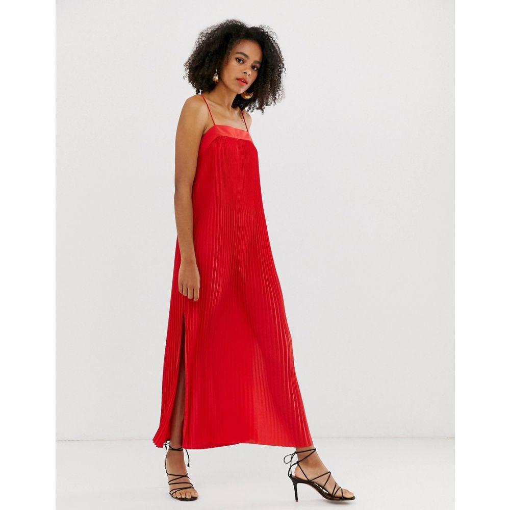 アンドアザーストーリーズ & Other Stories レディース ワンピース・ドレス ワンピース【cami pleated dress in red】Red