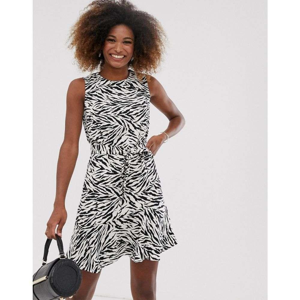 ウェアハウス Warehouse レディース ワンピース・ドレス ワンピース【dress with belt in zebra print】Multi