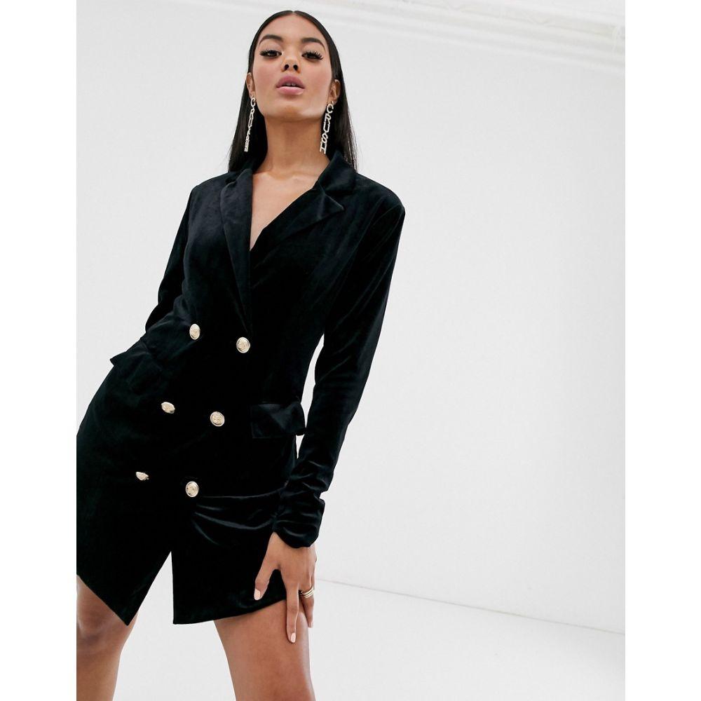 ミスガイデッド Missguided レディース ワンピース・ドレス ワンピース【velvet blazer dress】Black
