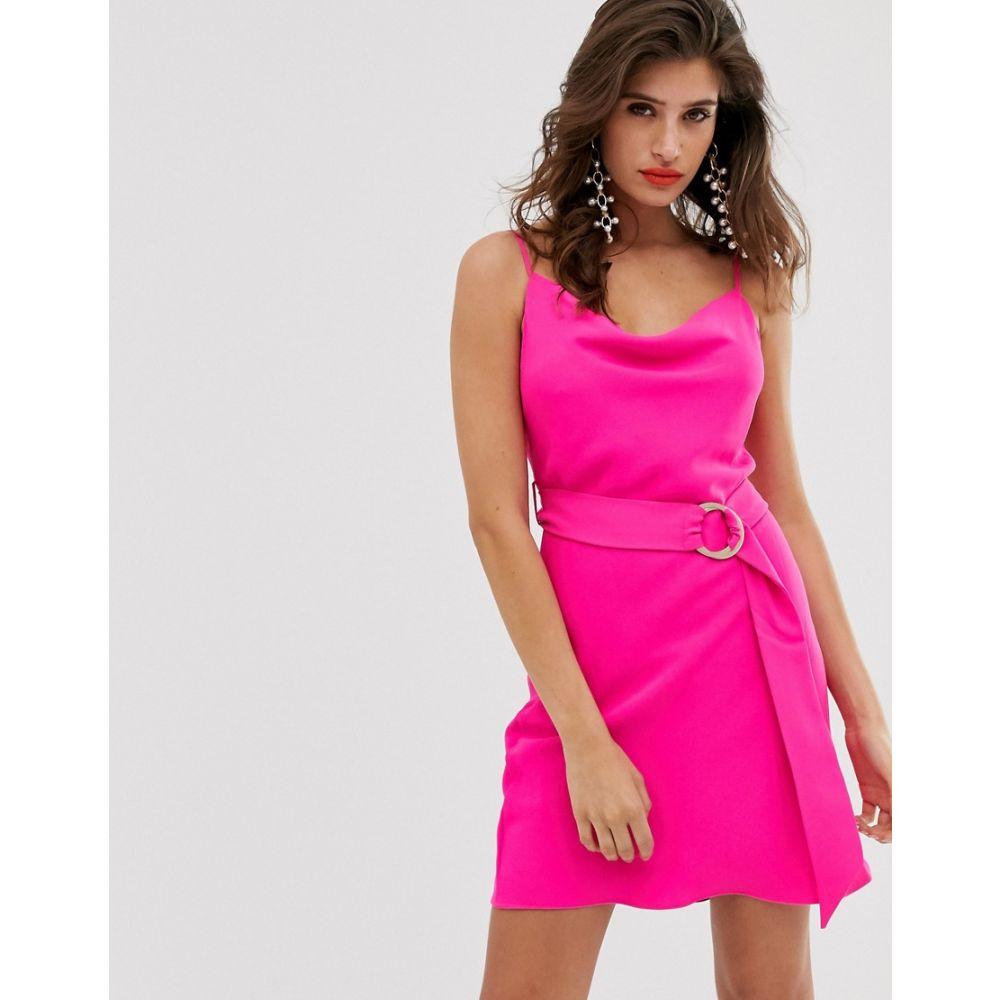 リバーアイランド River Island レディース ワンピース・ドレス ワンピース【bias cut cami slip dress in pink】Pink bright