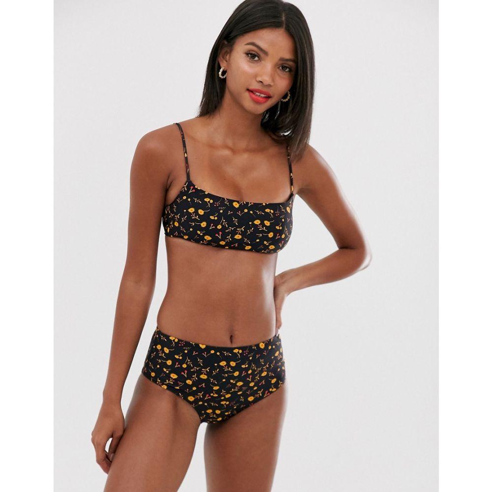 ホイッスルズ Whistles レディース 水着・ビーチウェア トップのみ【square neck bikini top in aster floral】Black multi