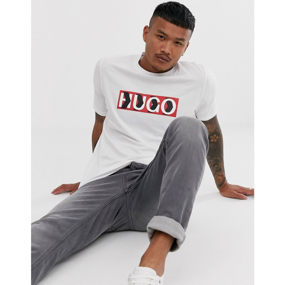 ヒューゴ ボス HUGO メンズ トップス t-shirt Tシャツ in【x Liam Payne chevron chevron logo t-shirt in white】White, フジミマチ:0320d283 --- officewill.xsrv.jp