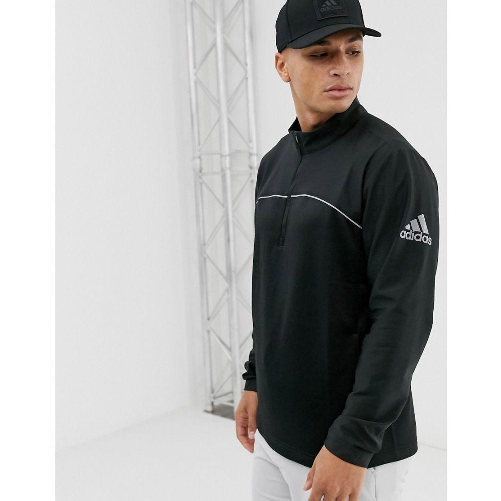 アディダス adidas Golf メンズ ゴルフ アウター【Adidas Golf Quarter Zip jacket in black】Black