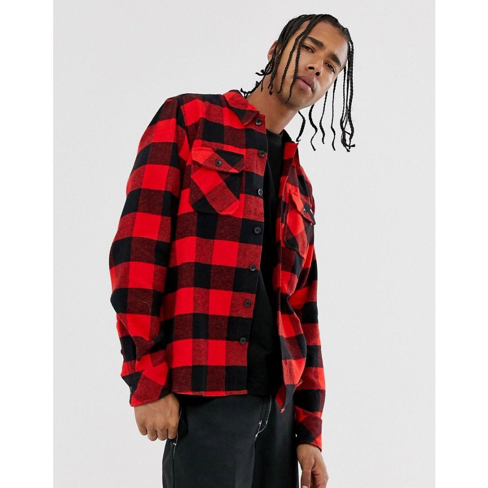 ディッキーズ Dickies メンズ トップス シャツ【Sacramento long sleeve check shirt in red】Red