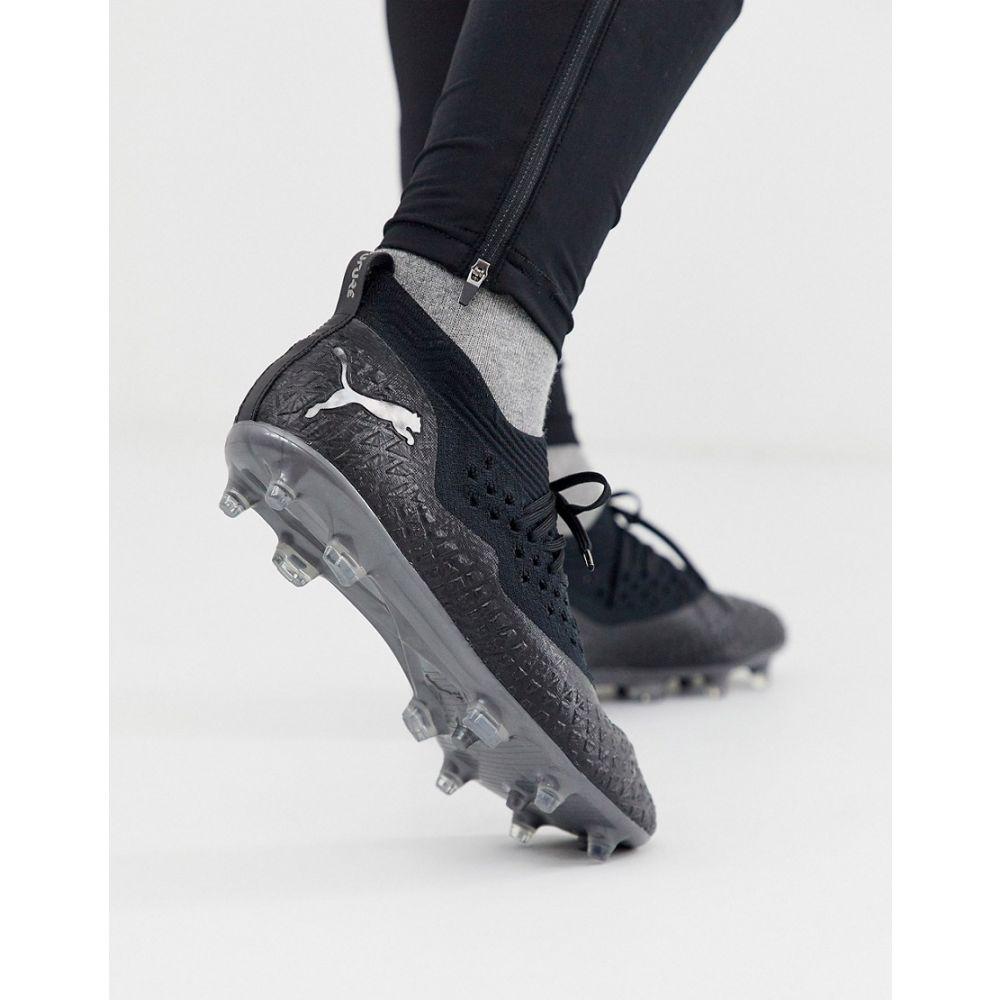 プーマ Puma メンズ アメリカンフットボール シューズ・靴【Football future 4.2 firm ground netfit boots in triple black】Black