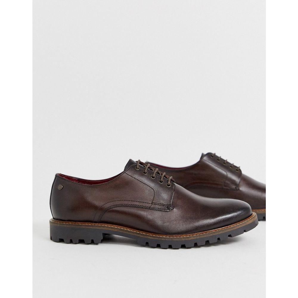 ベース ロンドン Base London メンズ シューズ・靴 革靴・ビジネスシューズ【Hogan lace ups in brown】Brown