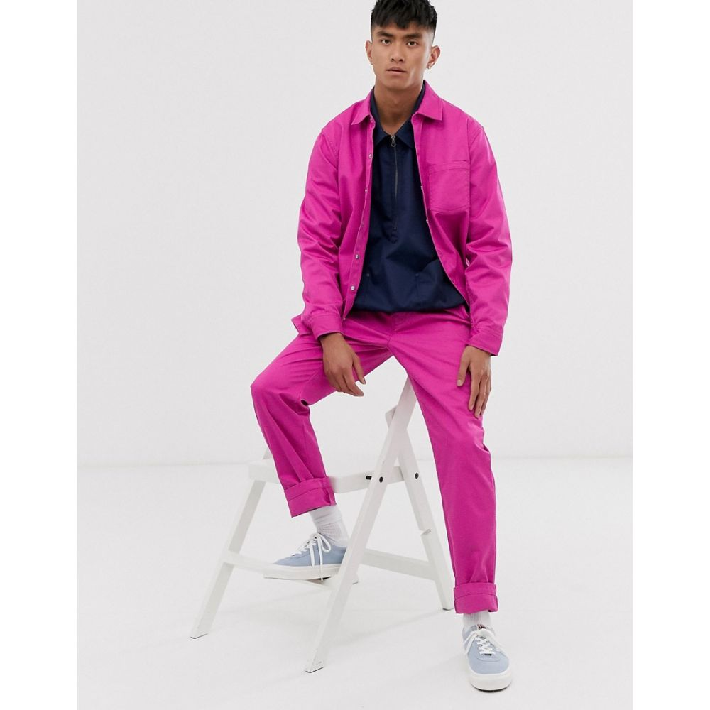 M.C. オーバーオールズ M.C. Overalls メンズ ボトムス・パンツ スキニー・スリム【M.C.Overalls Polycotton slim work trousers in purple】Royal purple