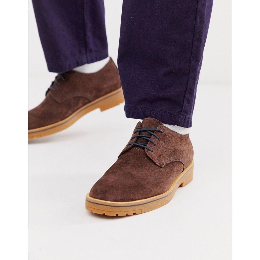 ティンバーランド Timberland メンズ シューズ・靴【suede lace up shoe in brown】Brown