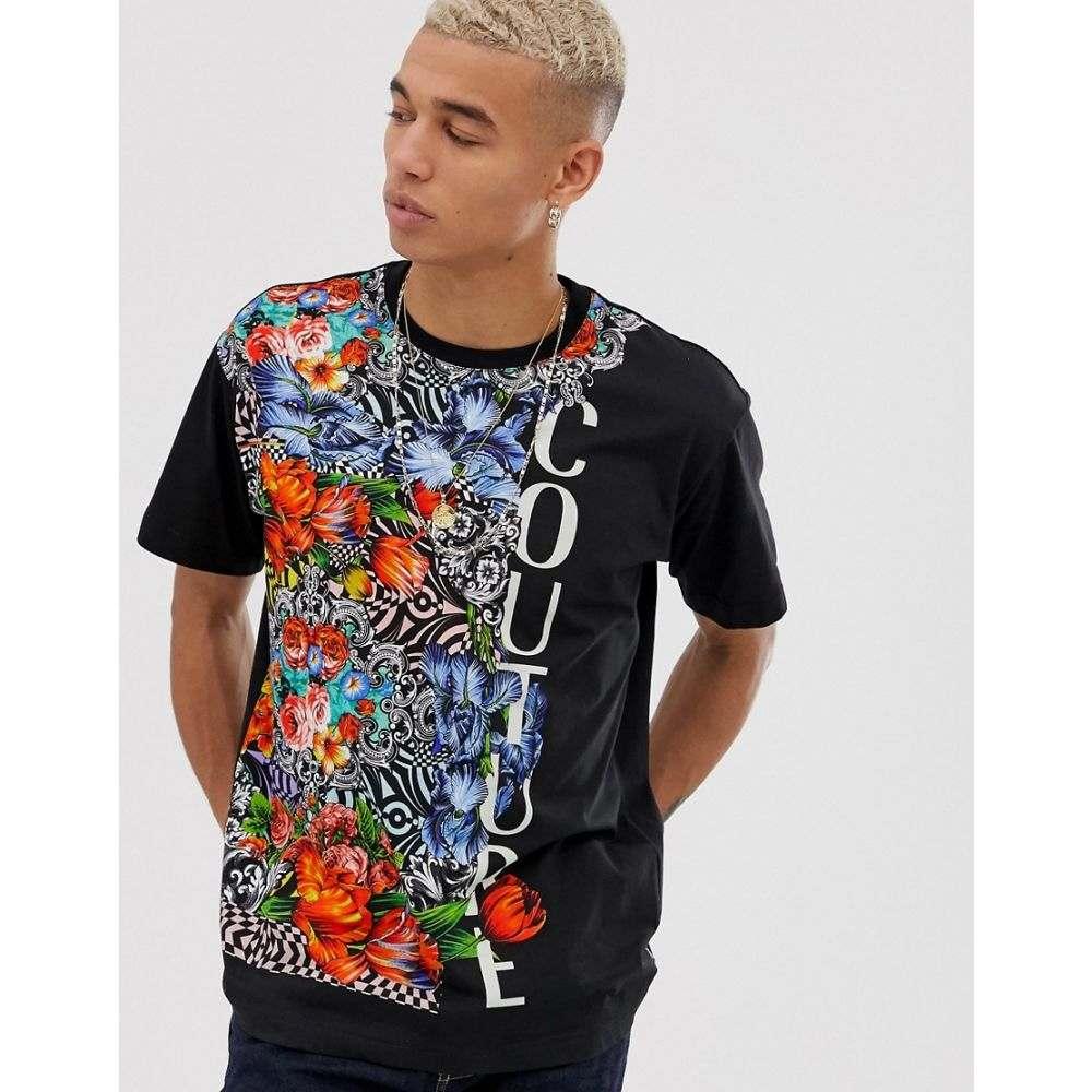 ヴェルサーチ Versace Jeans Couture メンズ トップス Tシャツ【oversized t-shirt with floral print】Multi