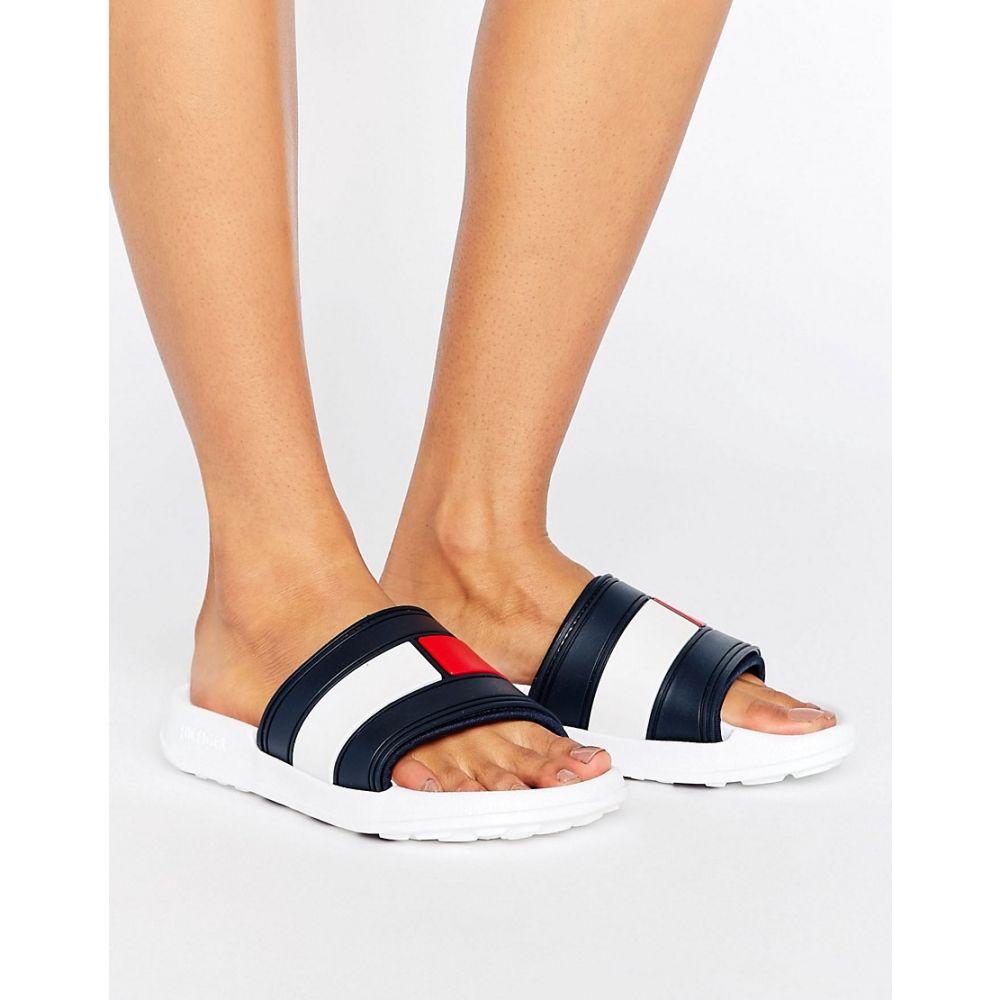 トミー ヒルフィガー Tommy Hilfiger レディース シューズ・靴 サンダル・ミュール【flag slider sandals】White