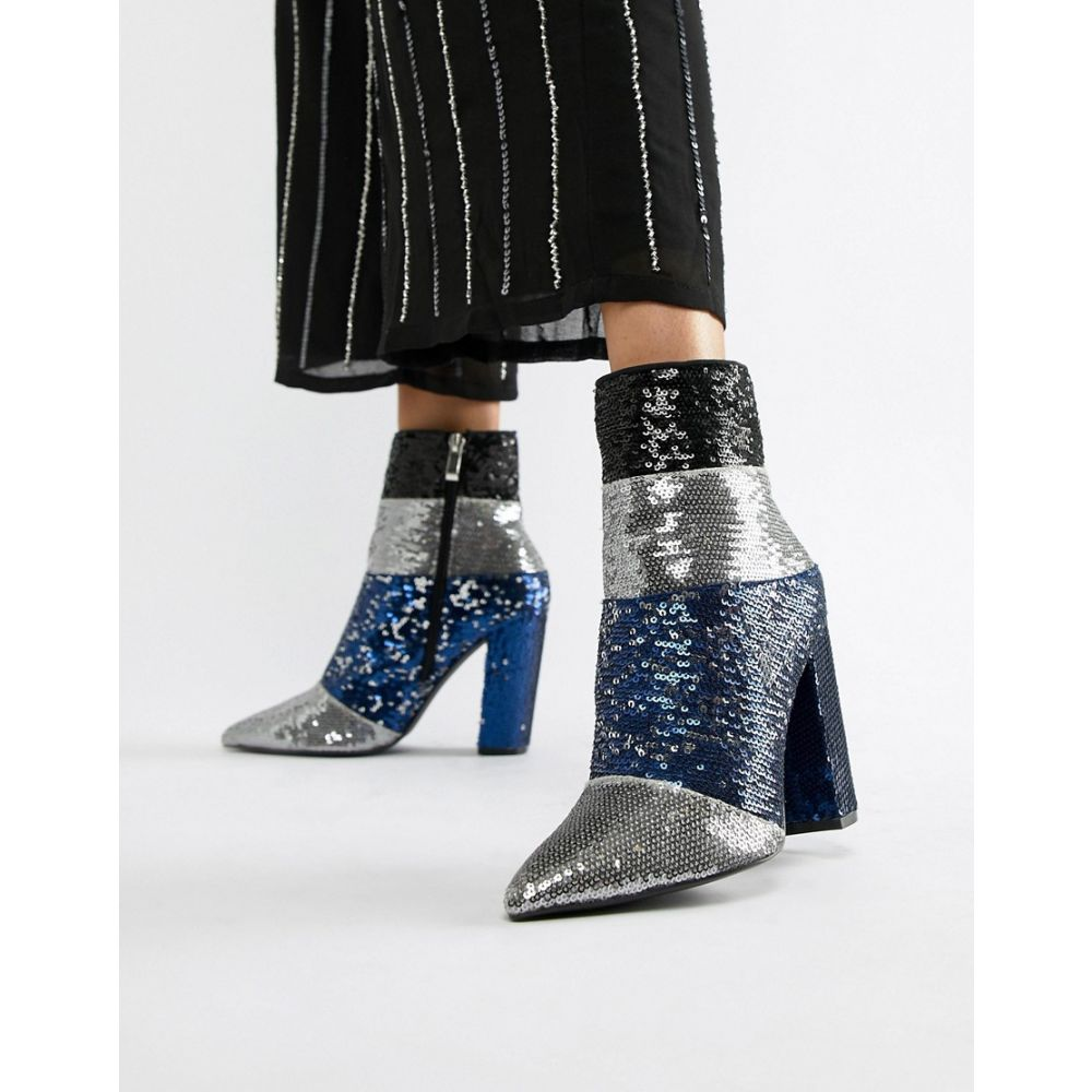 キューピッド QUPID レディース シューズ・靴 ブーツ【Qupid Sequin Ankle Boots】Multi