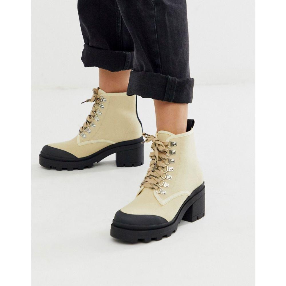 トリュフコレクション Truffle Collection レディース シューズ・靴 ブーツ【lace up hiker boots in beige】Beige/black mix