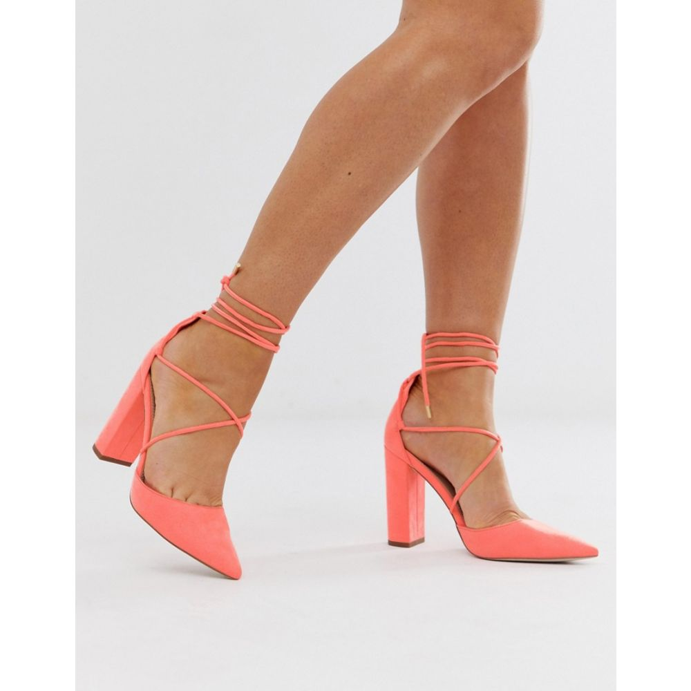 エイソス ASOS DESIGN レディース シューズ・靴 ヒール【Power Trip high heels in neon pink】Acid neon pink