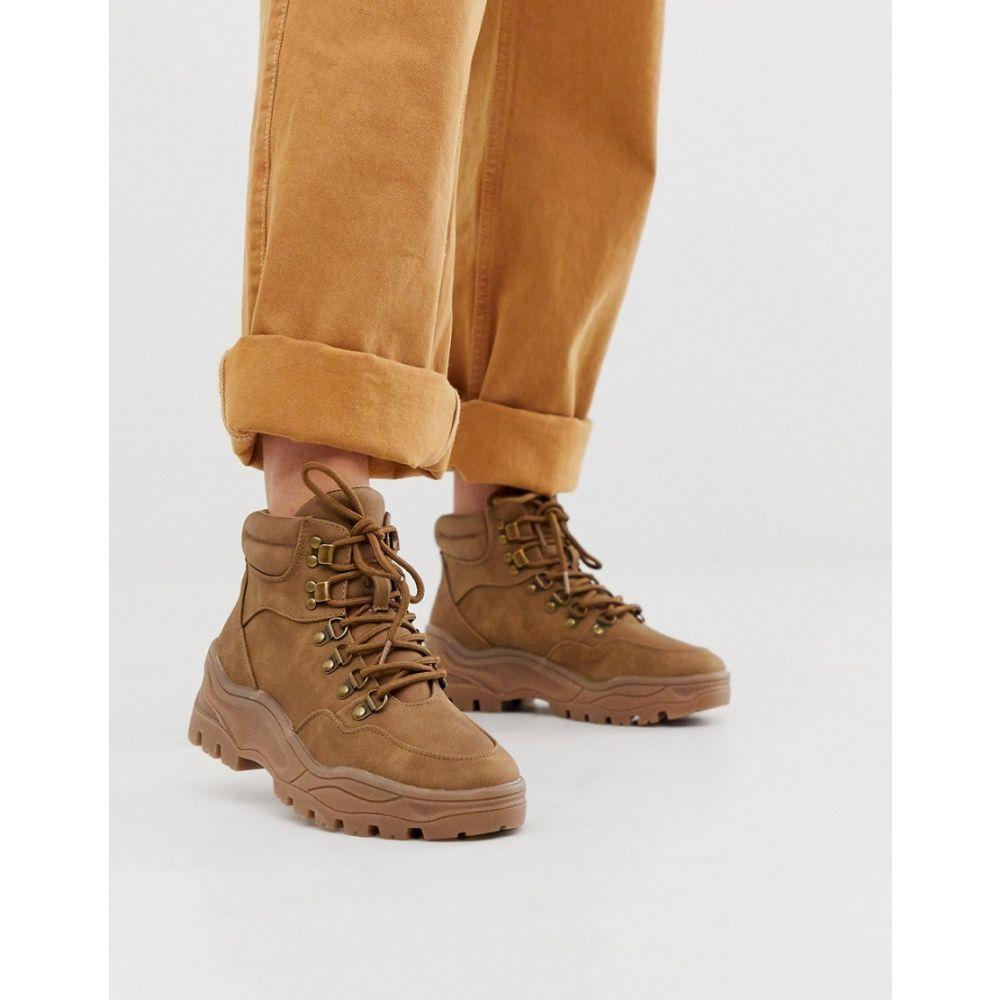 ニュールック New Look レディース ハイキング・登山 シューズ・靴【chunky hiking boots in tan】Tan