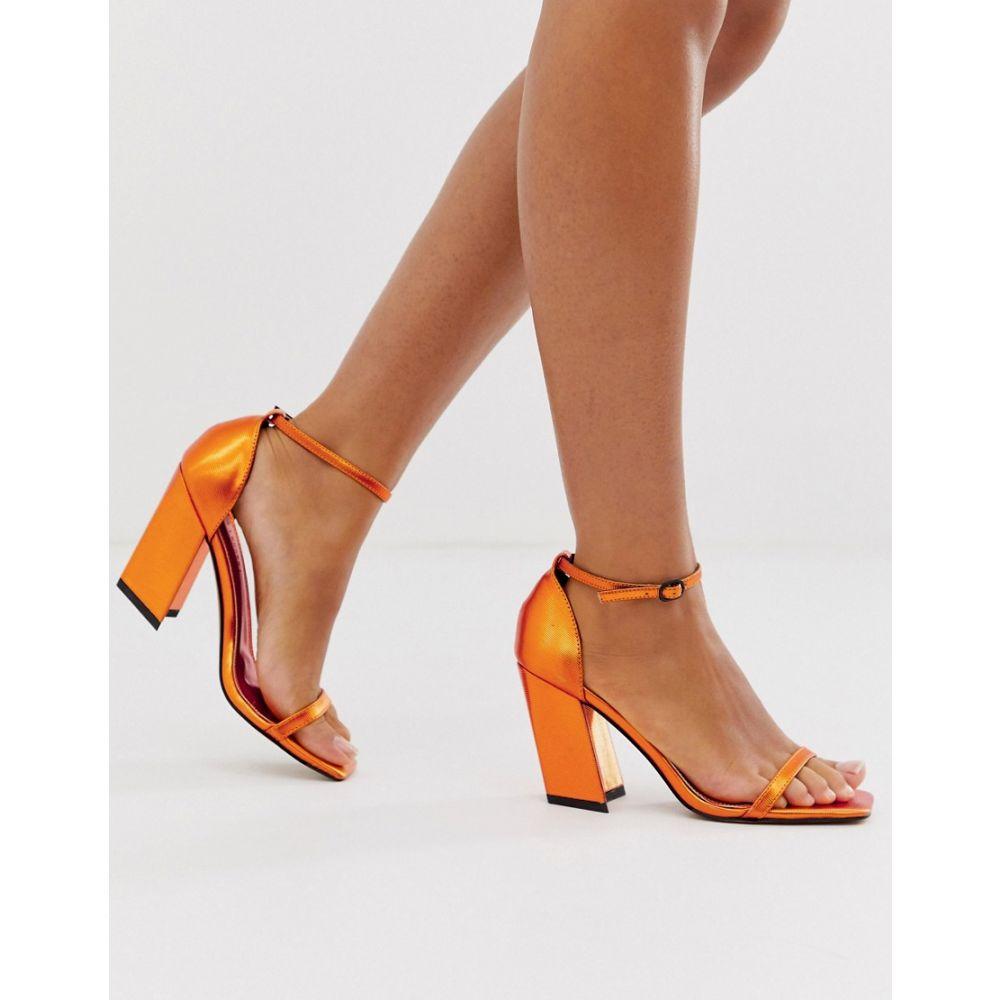 エイソス ASOS DESIGN レディース シューズ・靴 サンダル・ミュール【Highgate barely there block heeled sandals in copper】Copper