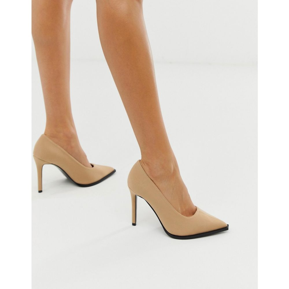 エイソス ASOS DESIGN レディース シューズ・靴 パンプス【Powerful high heeled court shoes in beige】Beige neoprene