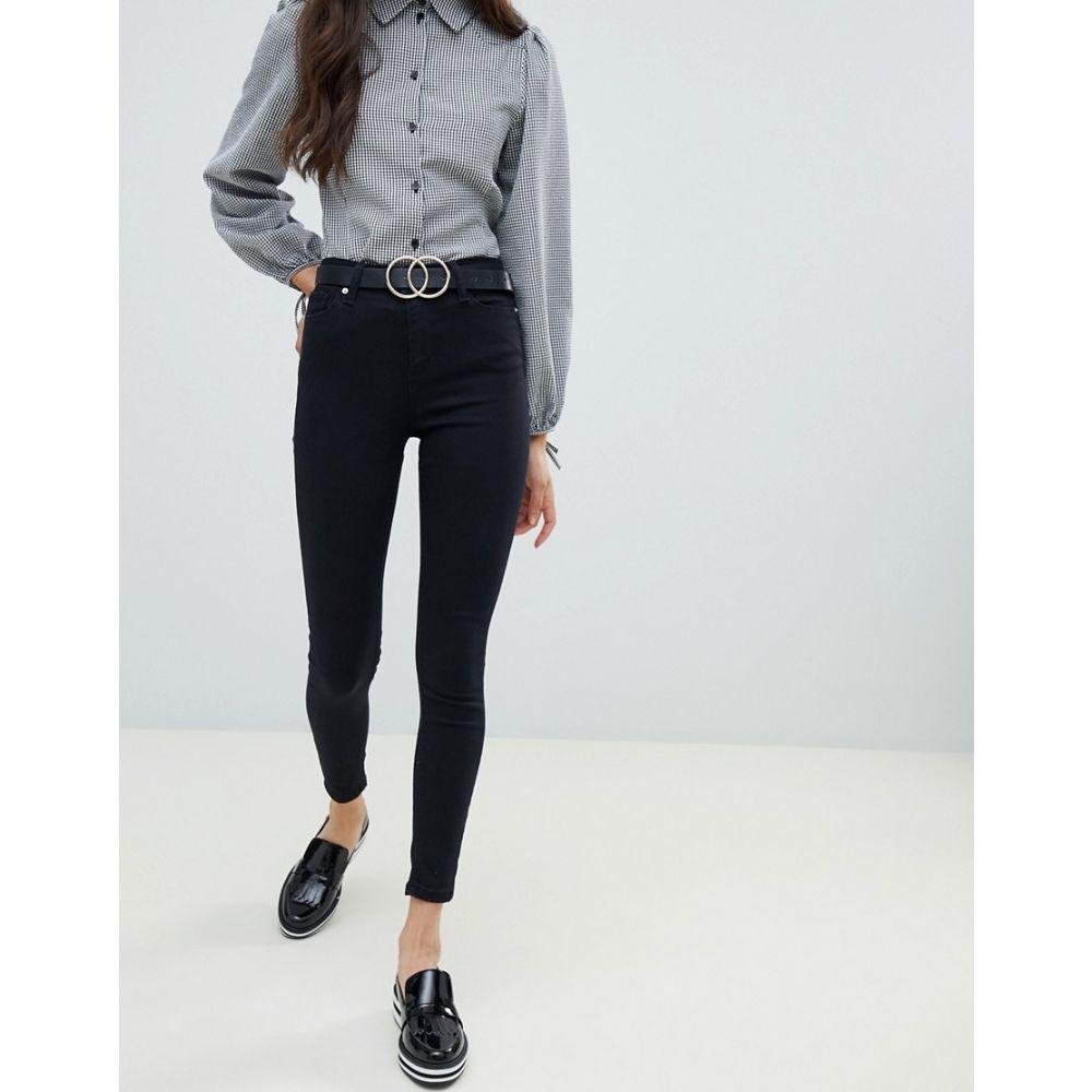 ミス セルフリッジ Miss Selfridge レディース ボトムス・パンツ ジーンズ・デニム【Lizzie high waist skinny jeans in black】Black