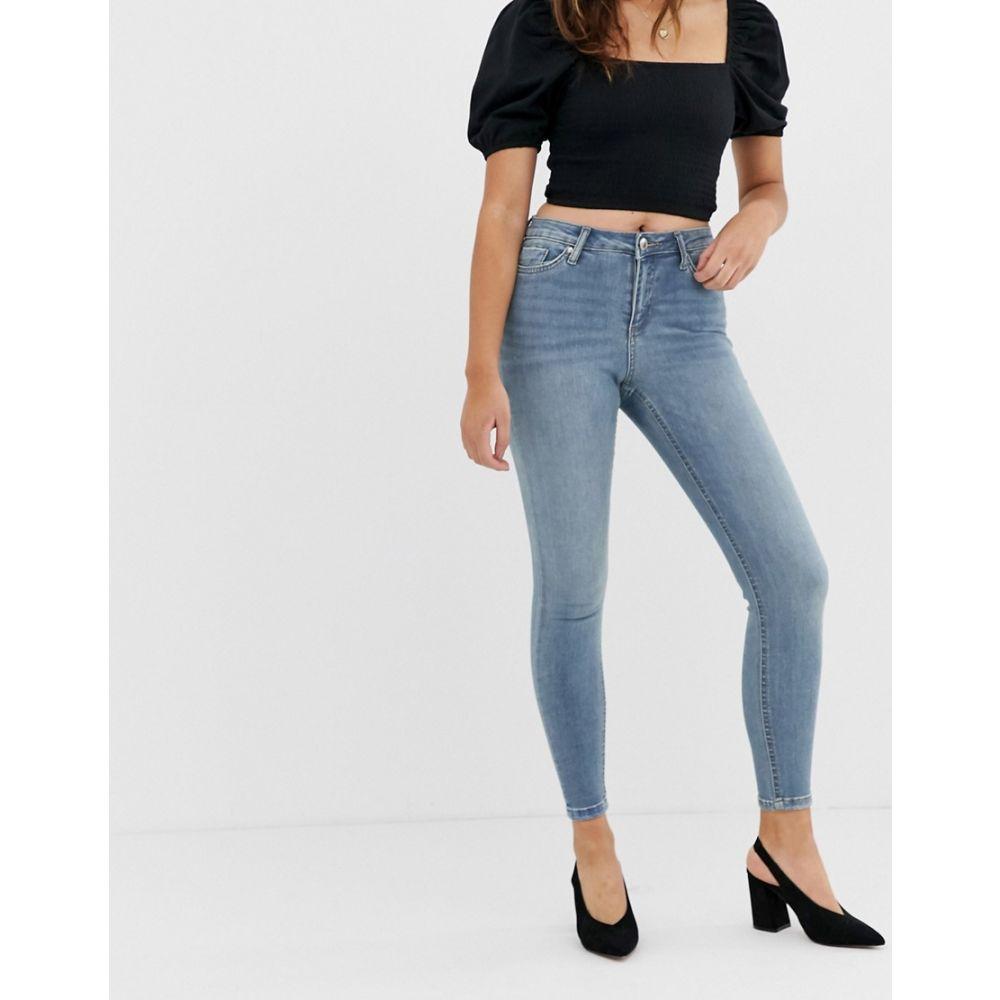 ミス セルフリッジ Miss Selfridge レディース ボトムス・パンツ ジーンズ・デニム【Lizzie skinny jeans in mid wash】Blue