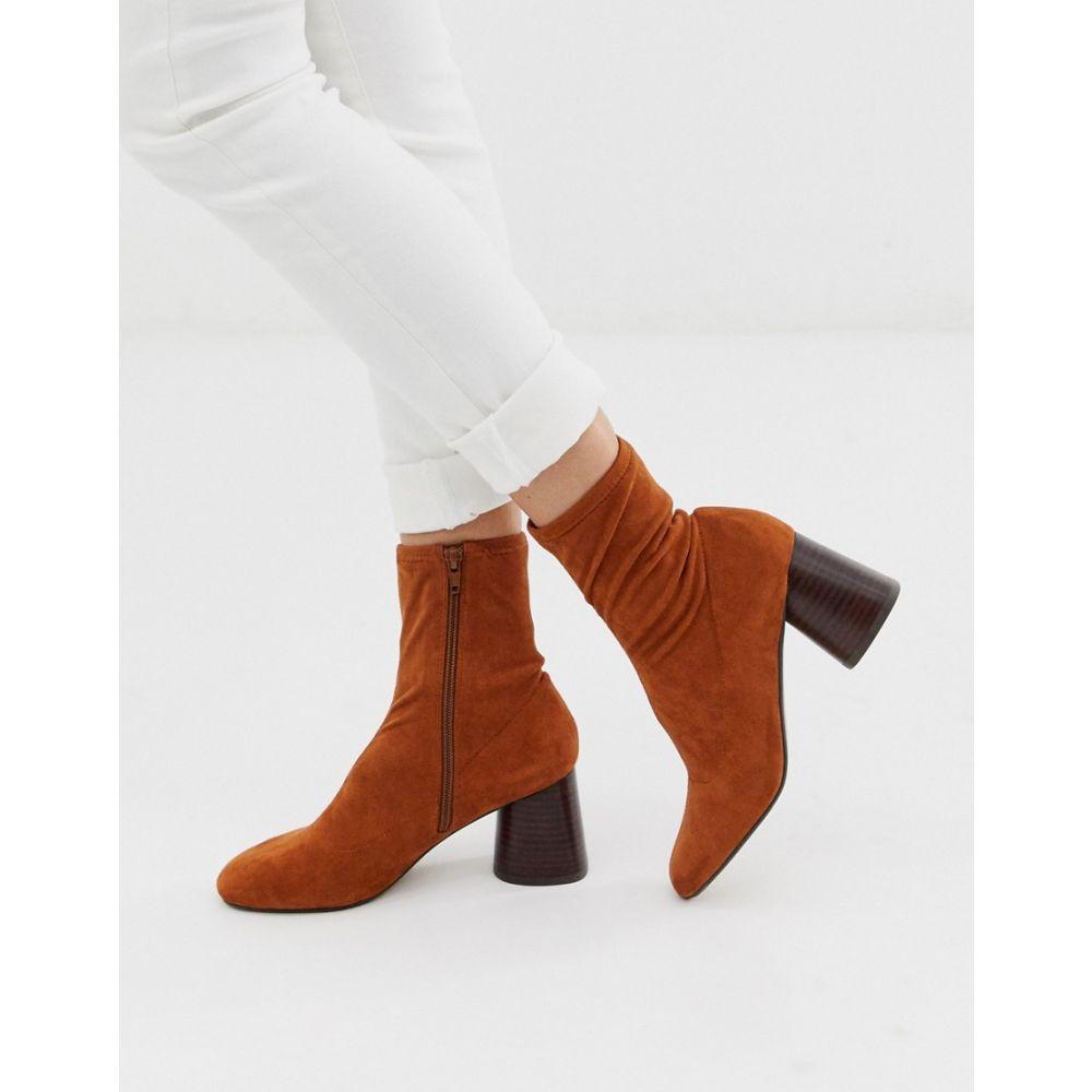 エイソス ASOS DESIGN レディース シューズ・靴 ブーツ【Reckoning sock boots in tan】Tan