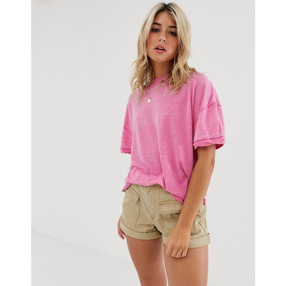 フリーピープル Free People レディース トップス Tシャツ【Viola washed t-shirt】Pink