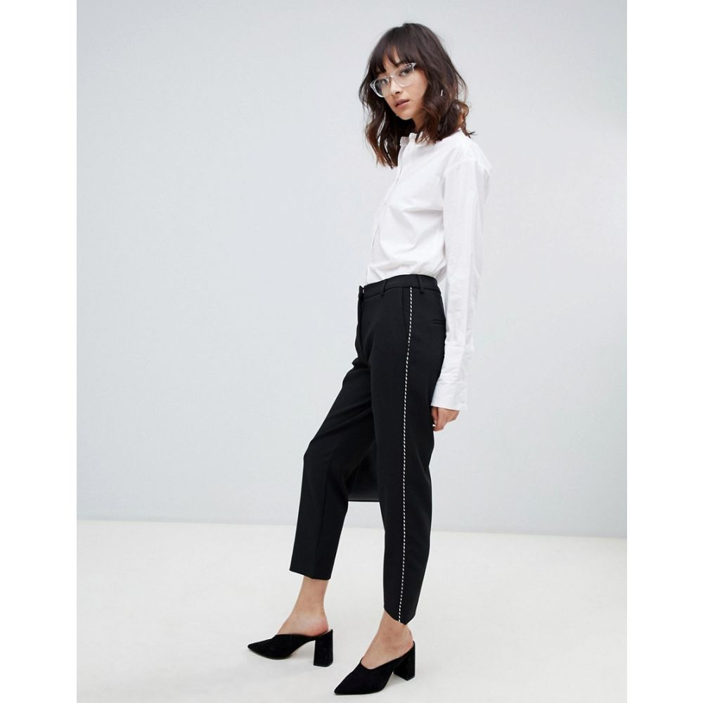 セレクテッド オム Selected レディース ボトムス・パンツ クロップド【Norra cropped tailored trousers】Black