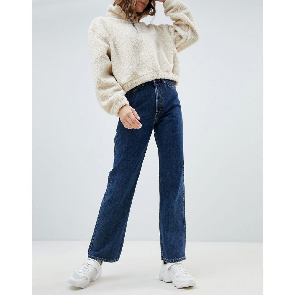 ウィークデイ Weekday レディース ボトムス・パンツ ジーンズ・デニム【row high waist jeans in win blue in Organic Cotton】Win blue