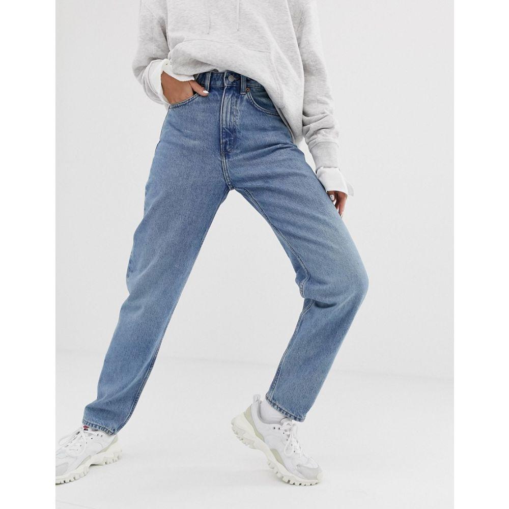 ウィークデイ Weekday レディース ボトムス・パンツ ジーンズ・デニム【Lash oversized mom jean in light blue】Seven blue