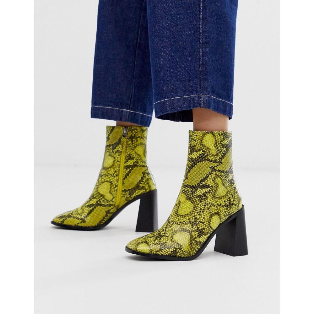 レイド Raid レディース シューズ・靴 ブーツ【RAID Ziva lime snake heeled ankle boots】Gr - green