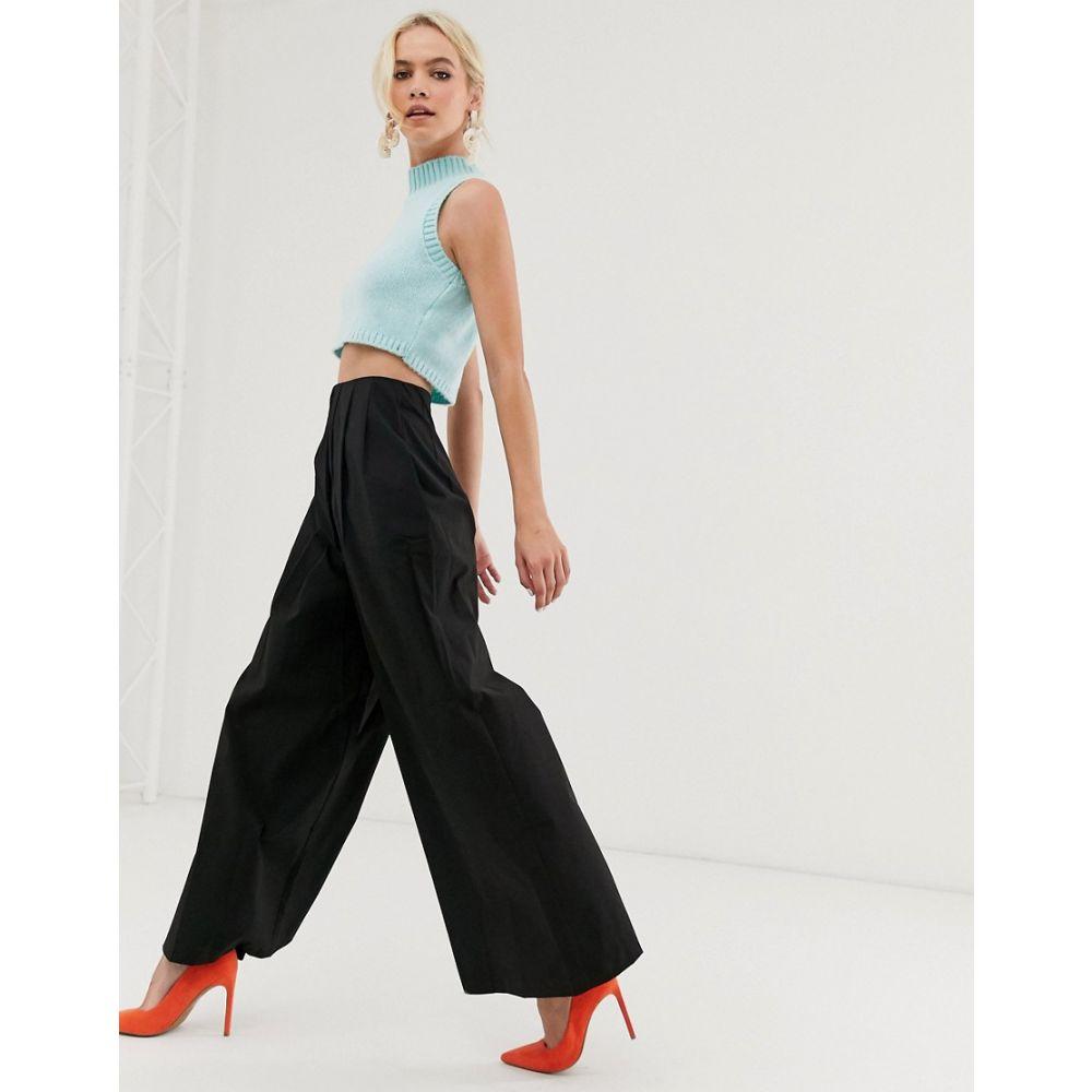 クローゼットロンドン Closet London レディース ボトムス・パンツ【Closet high waist palazzo trousers】Black