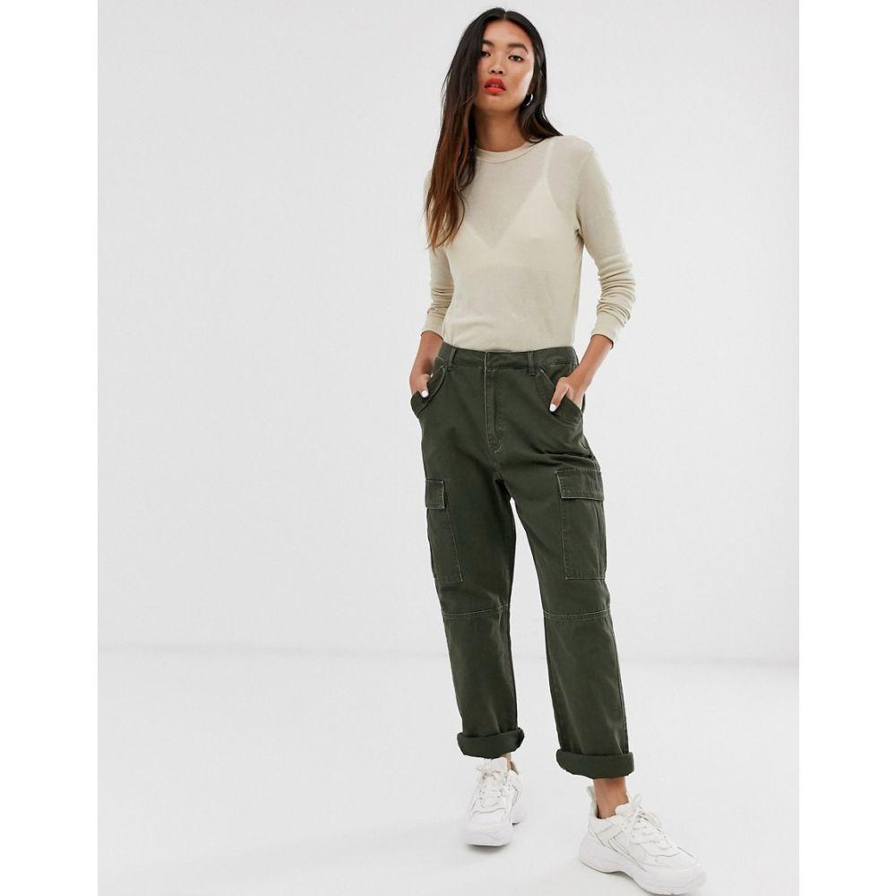 オンリー Only レディース ボトムス・パンツ カーゴパンツ【cargo utility trousers】Green