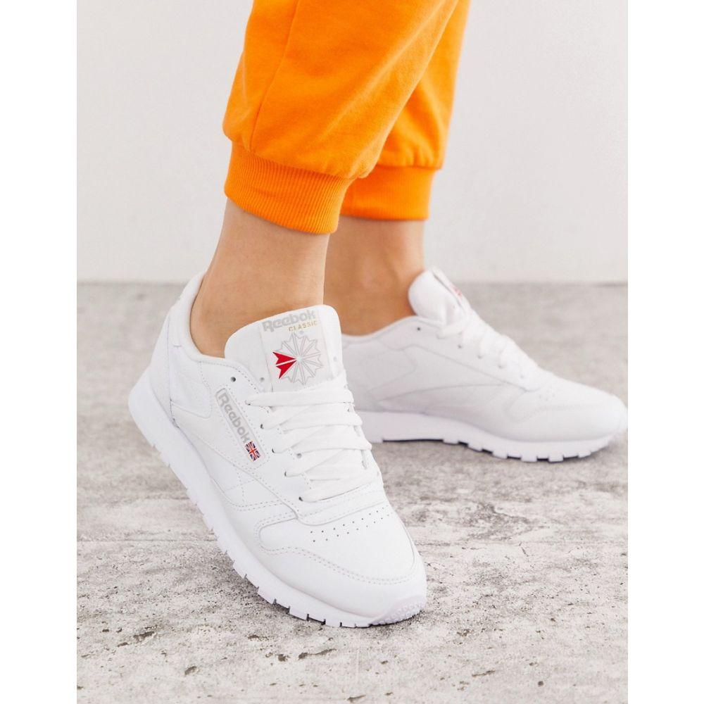 リーボック Reebok レディース シューズ・靴 スニーカー【Classic Leather trainers in white】White
