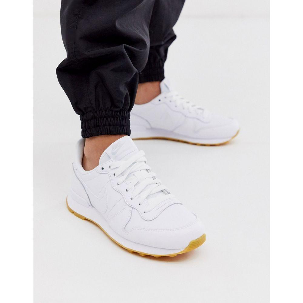 ナイキ Nike レディース シューズ・靴 スニーカー【Internationalist trainers in white】White/white white