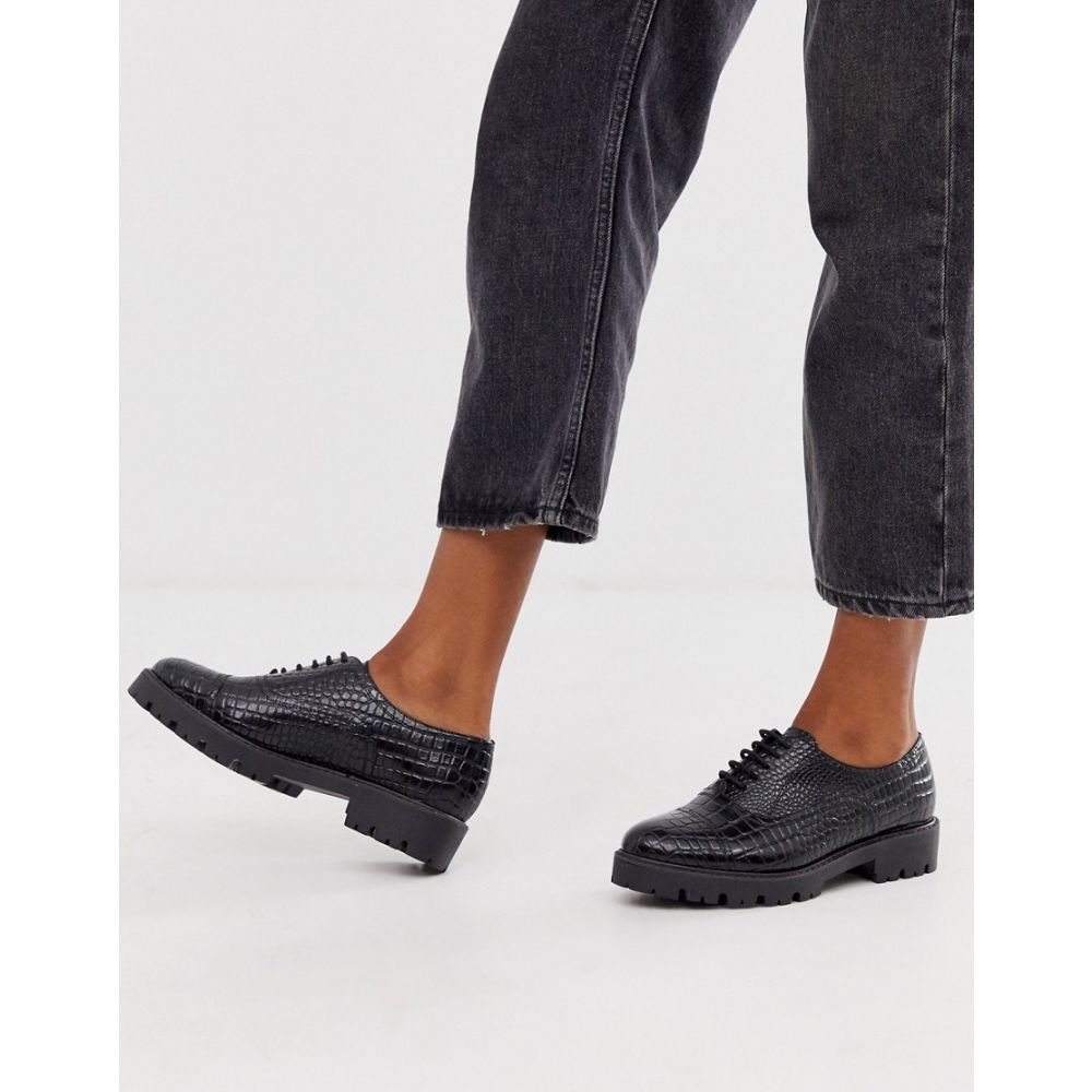 デューン Dune レディース シューズ・靴 ローファー・オックスフォード【Florrie leather lace up brogue】Croc print leather
