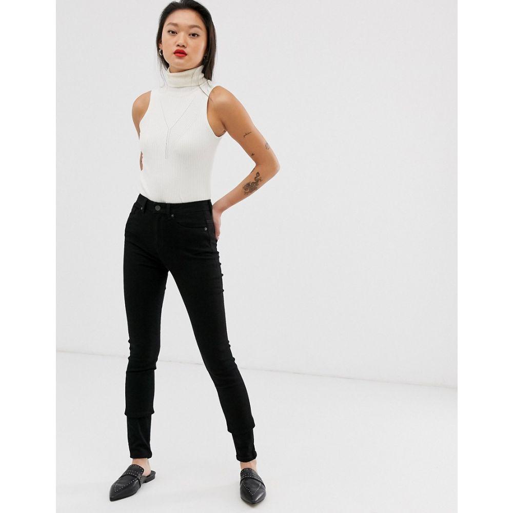セレクテッド オム Selected レディース ボトムス・パンツ ジーンズ・デニム【Femme high waist skinny jeans in black】Black