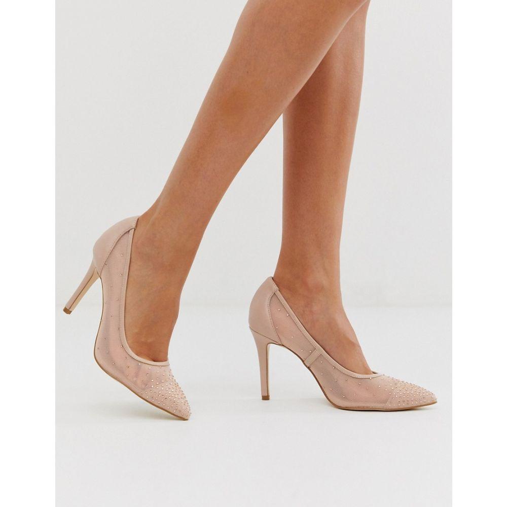 フォーエバーニュー Forever New レディース シューズ・靴 パンプス【mesh pointed court heel with diamante detail in blush】Blush