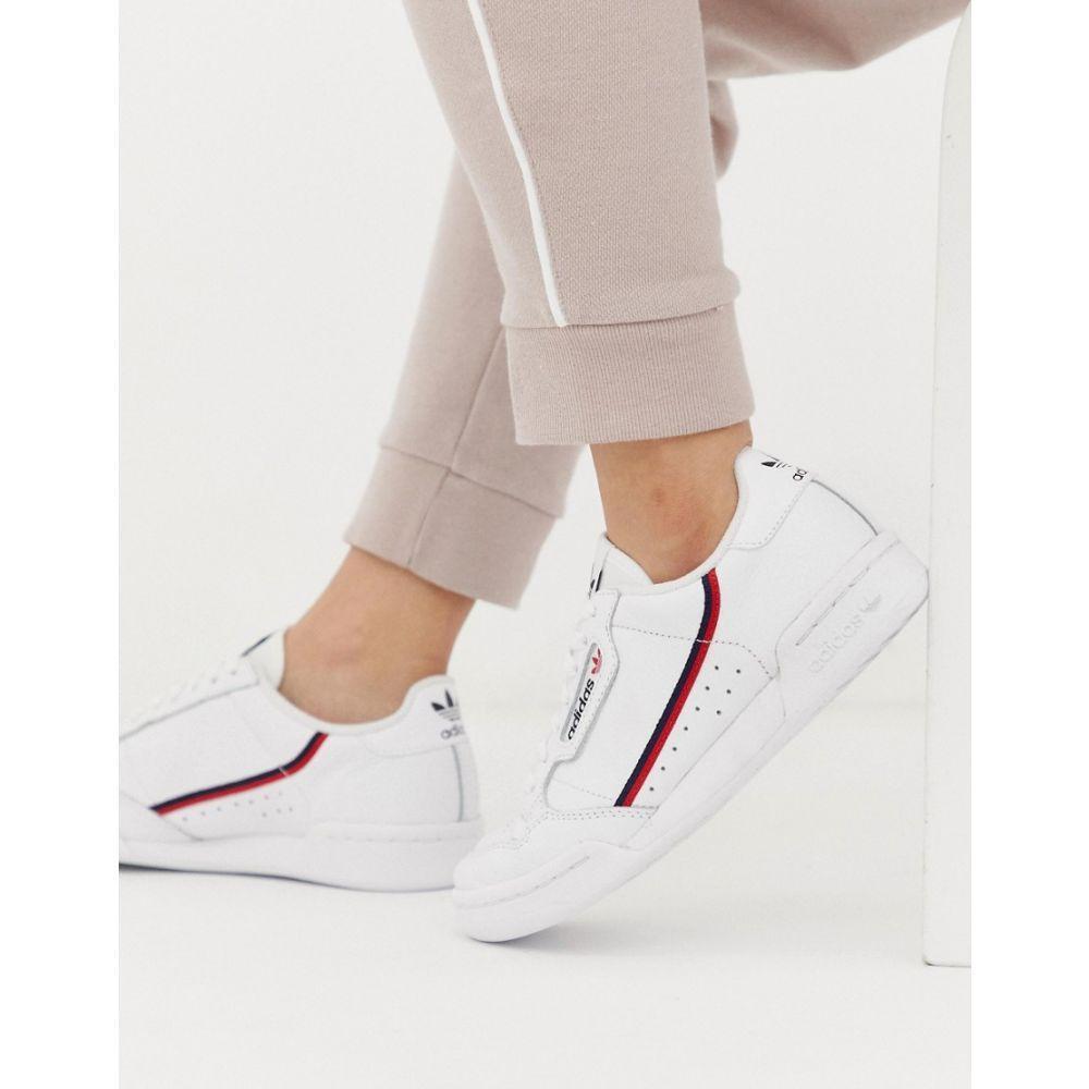 アディダス adidas Originals レディース シューズ・靴 スニーカー【Continental 80 in white and red】White