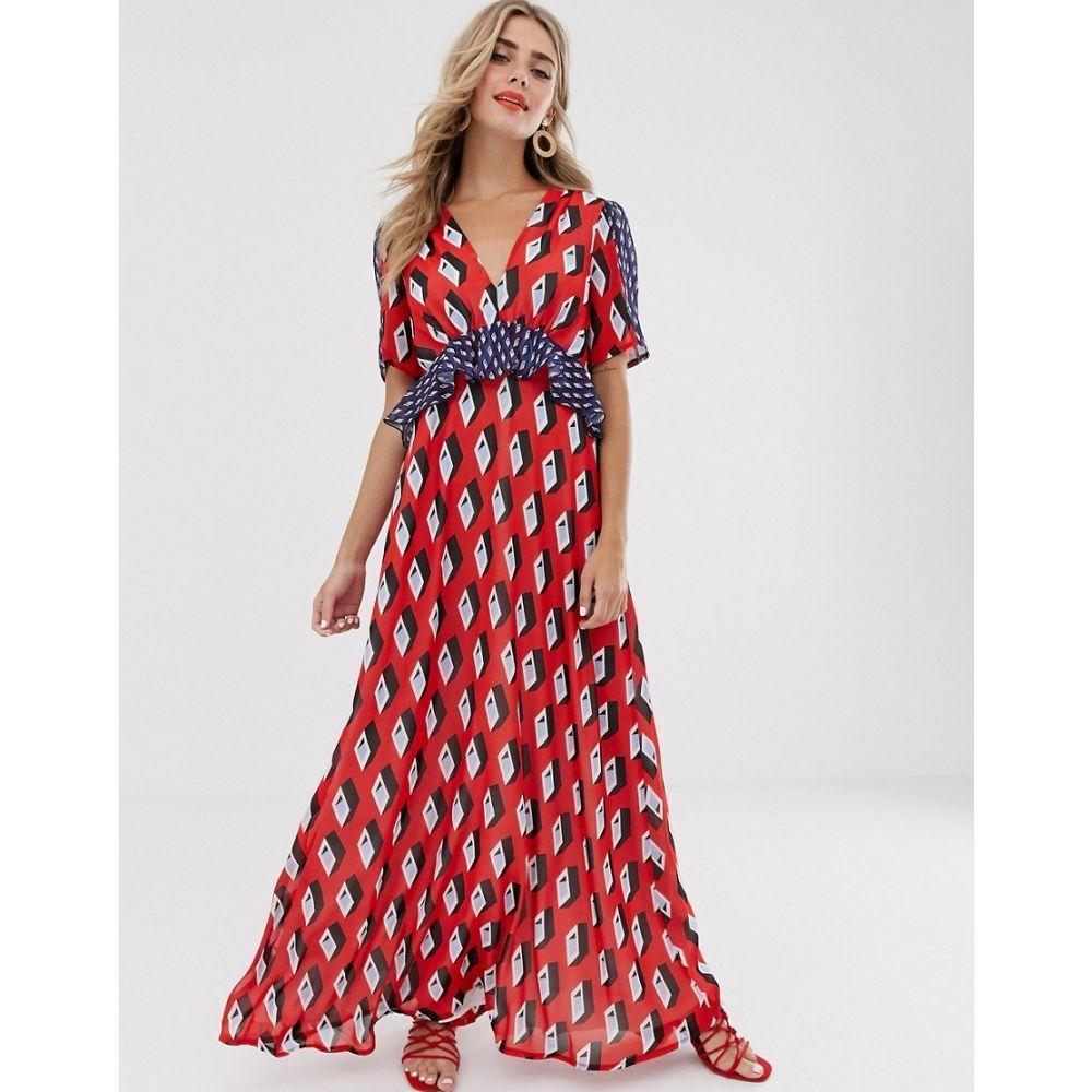 ツイステッドヴンダー Twisted Wunder レディース ワンピース・ドレス ワンピース【printed midaxi dress in geo print】Multi