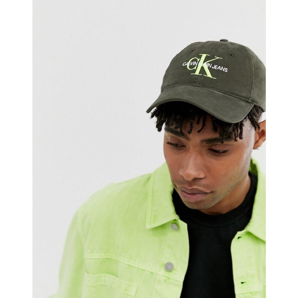 カルバンクライン メンズ 帽子 キャップ Khaki 【サイズ交換無料】 カルバンクライン Calvin Klein Jeans メンズ 帽子 キャップ【Monogram logo baseball cap in khaki】Khaki