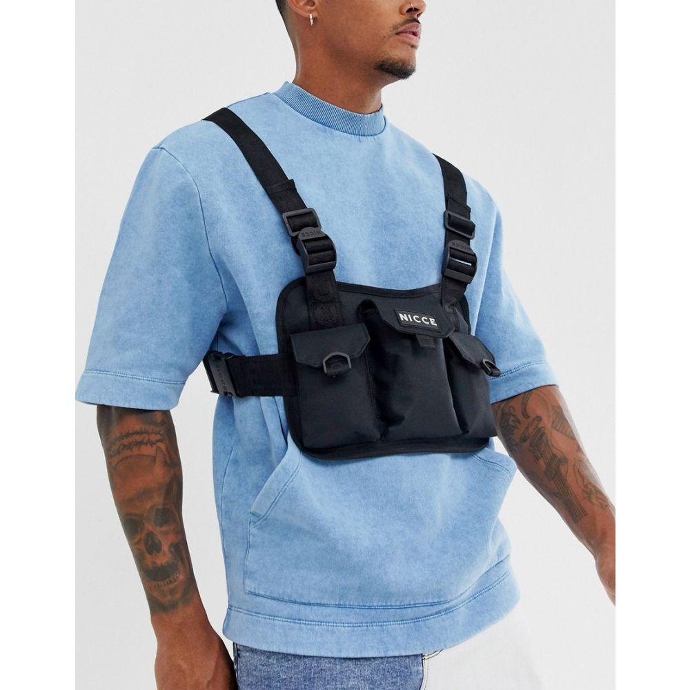 ニッチェ ロンドン Nicce メンズ バッグ【chest rig bag with logo in black】Black