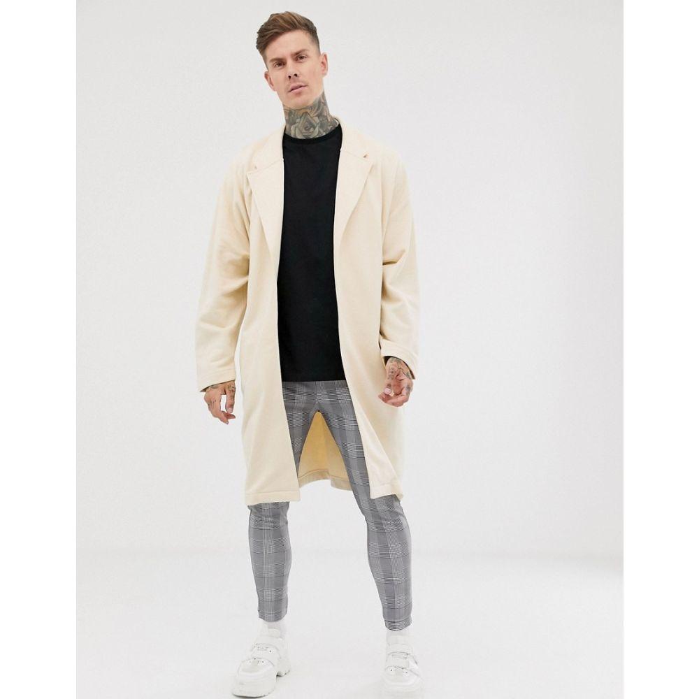 エイソス ASOS DESIGN メンズ アウター ジャケット【extreme oversized jersey duster in beige】Creme brule