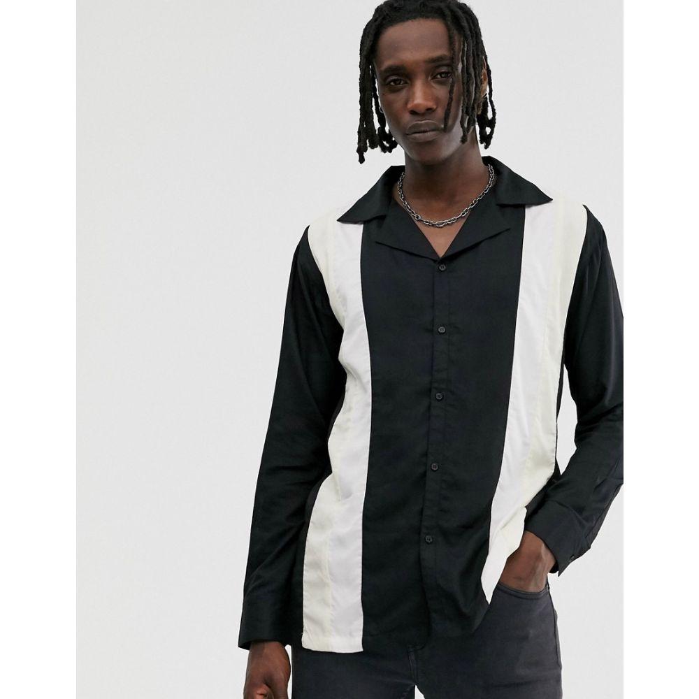 セイクリッド ホーク Sacred Hawk メンズ ボウリング トップス【long sleeve bowling shirt in black】Black