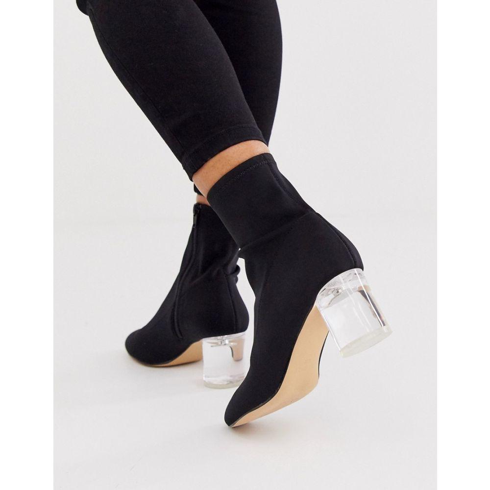 ロンドン レーベル London Rebel レディース ブーツ シューズ・靴【neoprene sock boots in black】Black neoprene