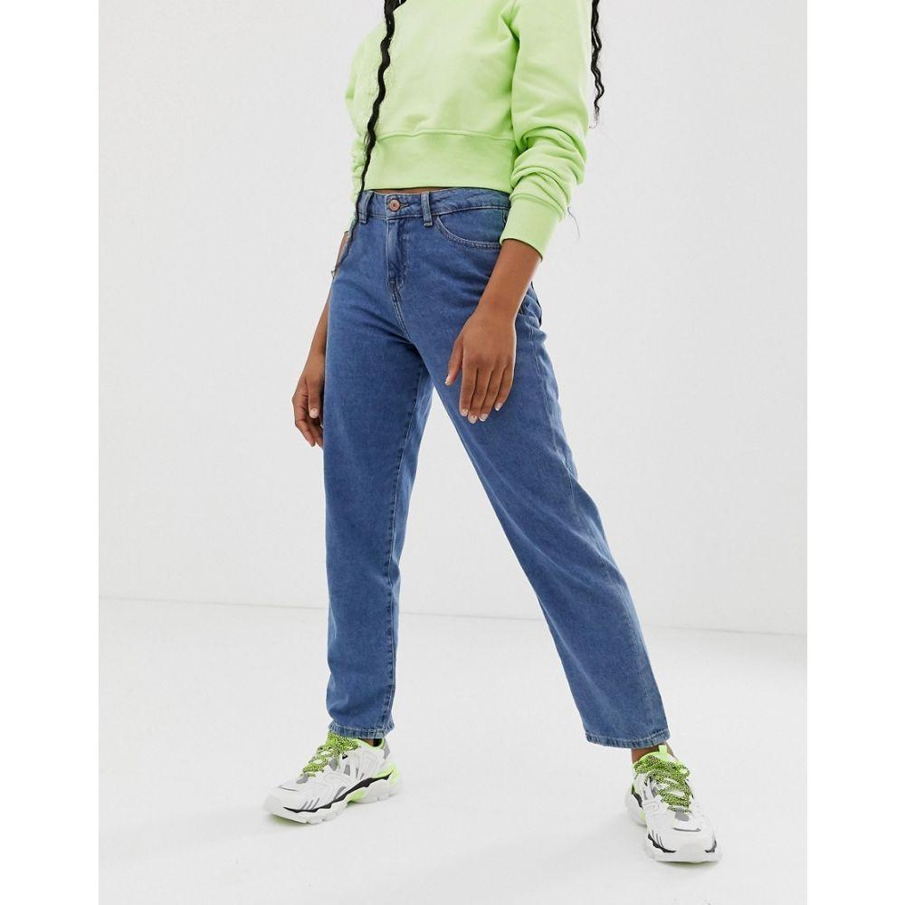 ノイズィーメイ Noisy May レディース ジーンズ・デニム ボトムス・パンツ【relaxed straight leg jean in mid blue wash】Med blue denim