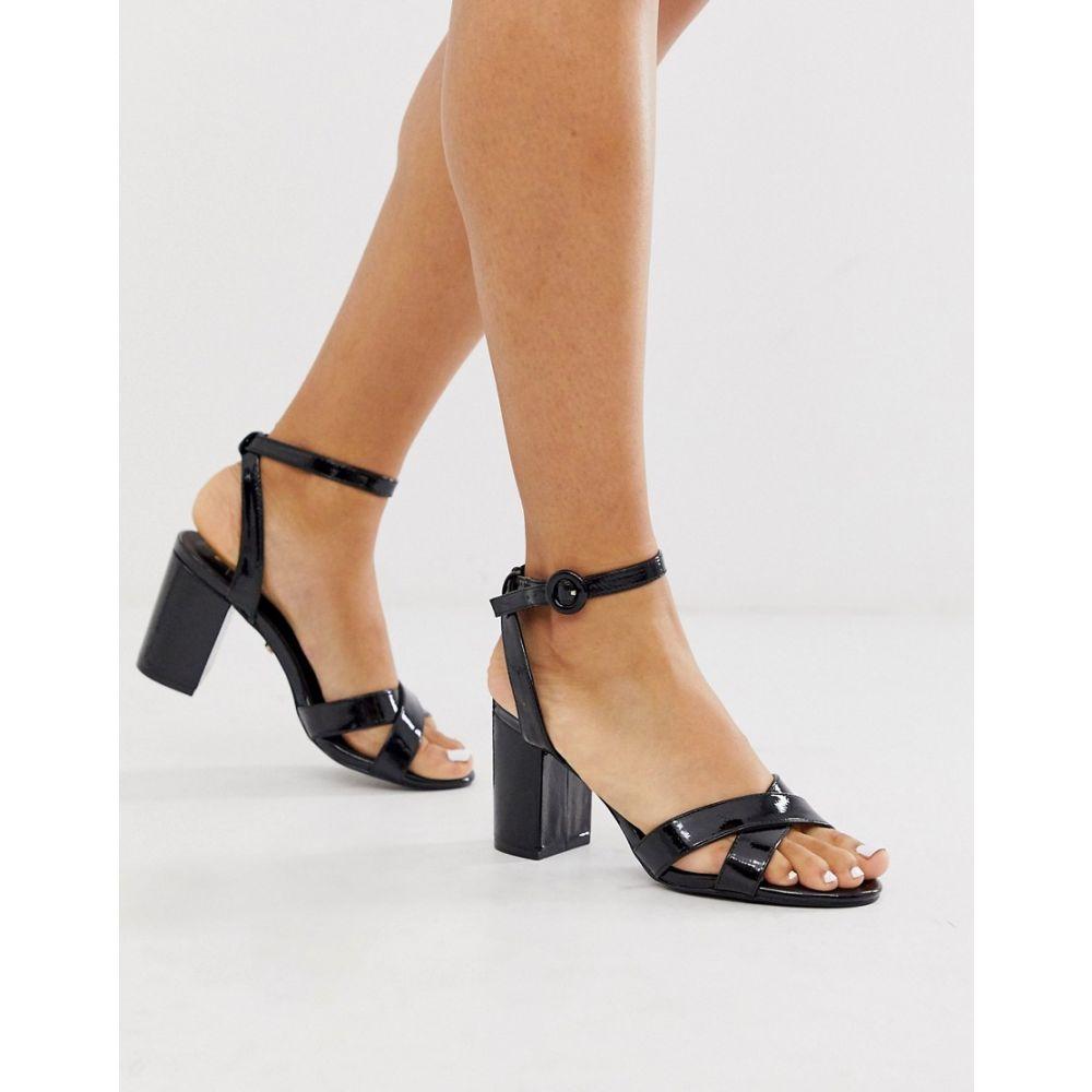 オアシス Oasis レディース サンダル・ミュール シューズ・靴【block heel cross front sandals】Black