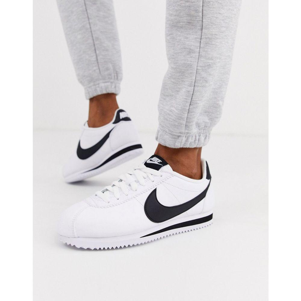 ナイキ Nike レディース スニーカー シューズ・靴【White And Black Classic Cortez Leather Trainers】White/black